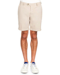 Ami Smiley Patch Short Sleeve Polo Flat Front Bermuda Shorts