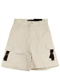 Vittorino Toddler Boys 4 7 Light Beige Classic Solid Cargo Linen Shorts