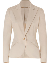 Stretch cotton eugenia blazer in spring beige medium 3994