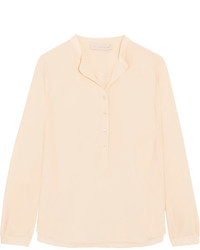 Stella McCartney Eva Silk Crepe De Chine Blouse Blush