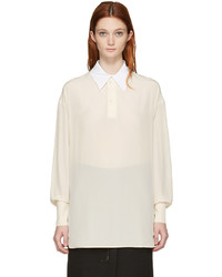 Stella McCartney Beige Silk Blouse