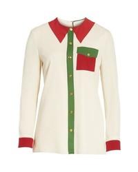Gucci Trompe Loeil Silk Shirt