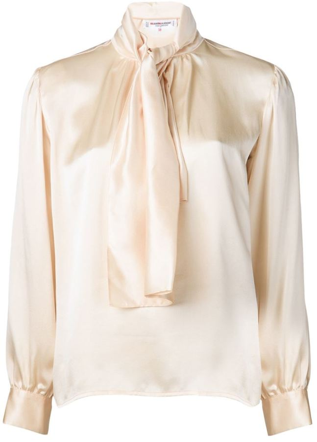 9abeff0f0f Vintage Tie Neck Blouse