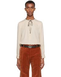 Gucci Beige Silk Crpe Shirt