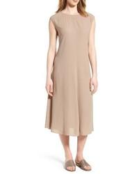 Eileen Fisher Silk Midi Dress