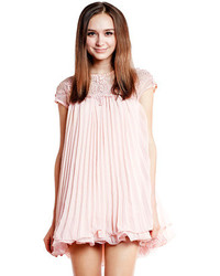 Choies cute swing dress with organza yoke medium 96515