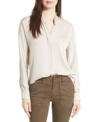 Double front stretch silk shirt medium 4468530