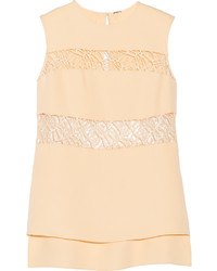 ADAM by Adam Lippes Adam Lippes Lace Paneled Silk Top