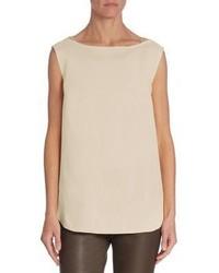 Sleeveless silk top medium 3703047