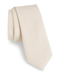 The Tie Bar Spin Dot Silk Cotton Tie