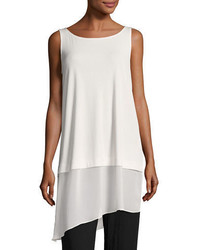 Eileen Fisher Stretch Silk Jersey Tunic Plus Size
