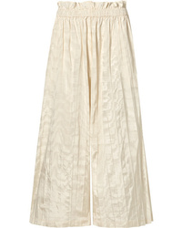 Gucci Pleated Silk Taffeta Wide Leg Pants