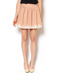 BRIGITTE Bardot Lace Pleated Skirt