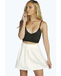 Boohoo Sophie Solid Colour Box Pleat Skater Skirt