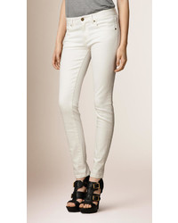 Burberry Skinny Fit Low Rise White Jeans