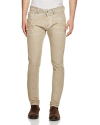 Diesel Tepphar Super Slim Fit Jeans In Denim Tan