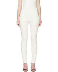 Balmain Ivory High Rise Trousers
