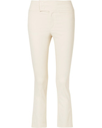 Isabel Marant Ovida Cropped Cotton Blend Skinny Pants
