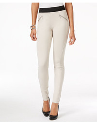 INC International Concepts Pull On Zipper Detail Skinny Pants Only At Macys