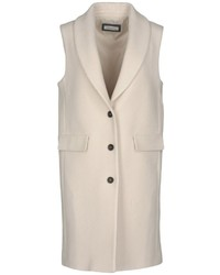 Beige Sleeveless Coat