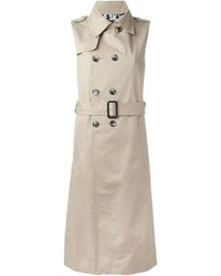 Sleeveless trench coat medium 431696