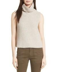 Sleeveless cashmere blend turtleneck medium 4412869