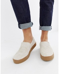 Toms Suede Trainer In Stone