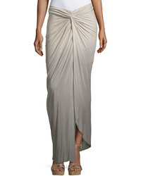 Young fabulous and broke kulani knotted ombre maxi skirt tan olive ombre medium 670396