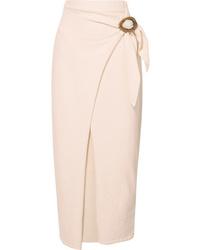 Nanushka Sasha Cotton Blend Terry Midi Wrap Skirt