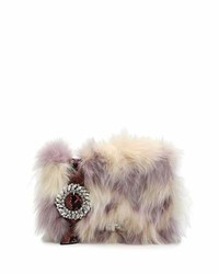 Jeweled fox fur python clutch bag medium 4471622