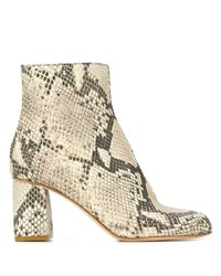 RED Valentino Red Snakeskin Effect Boots