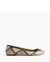 J.Crew Lily Ballet Flats In Snakeskin Printed Leather