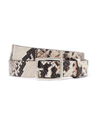 Rag & Bone Boyfriend Snake Effect Leather Belt