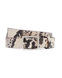 Rag & Bone Boyfriend Snake Effect Leather Belt