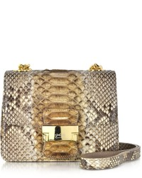 Brown python mini crossbody bag medium 180372