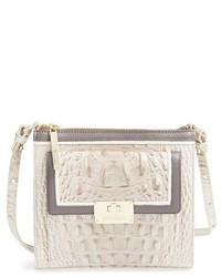 Mimosa croc embossed leather crossbody bag medium 212062