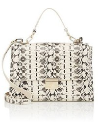 Beige Snake Leather Handbag
