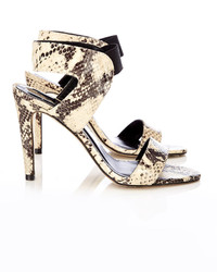 Wallis Snake Print Leather Sandal