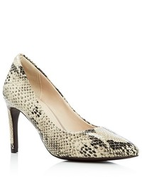 Cole Haan Amelia Snake Print Pointed Toe Pumps