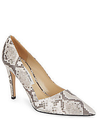 Erika snake embossed leather pumps medium 450670