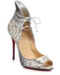 official photos b06c4 43655 Women's Beige Snake Leather Pumps by Christian Louboutin ...