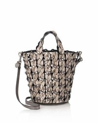 Jimmy Choo Maxine Woven Snakeskin Tote Bag Neutral Pattern