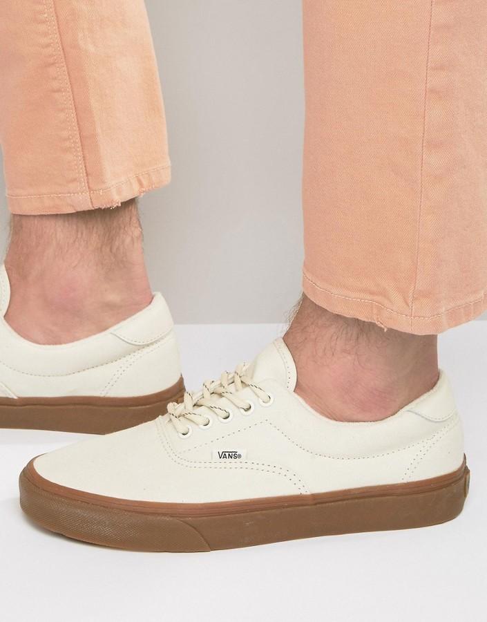 $79, Vans Era 59 Gum Sneakers In Beige V003s4jsh