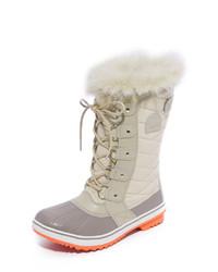 Beige Snow Boots
