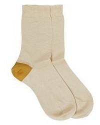 Maria La Rosa Crew Socks Nude