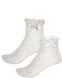 River Island Girls Beige Frilly Socks Multipack