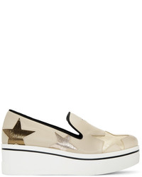 Stella McCartney Beige Star Binx Slip On Sneakers