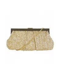 City Design Group Straw Fabric Clutch