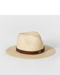 Art Class Girls Straw Panama Hat Art Class Beige One Size