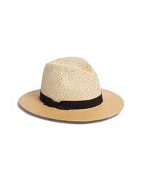Something Navy Basket Weave Panama Hat